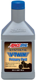 V-Twin Primary Fluid. Full synthetic oil delivers consistent clutch feel